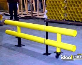 Custom Two Line Guardrail With Gate and Wheel Attached