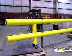 Custom Yellow Two Line Guardrail With Gate