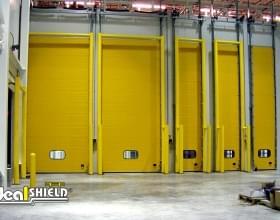 Custom Goal Post Guard Protecting Storage Doors