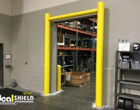 Ideal Shield's Goal Post Dock Door Protection with base plates