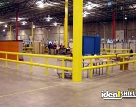 Multiple Two Line Guardrails Forming Enclosure For Employees