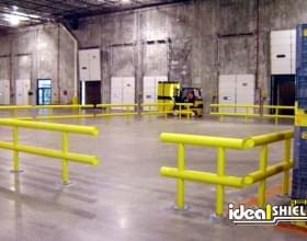 Two Line Guardrail Forming Safe Area For Warehouse Employees