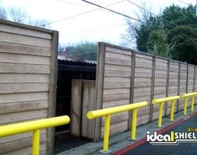 Tall Boy Standard Guardrail Yellow Storage Protection