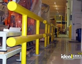 Two Line Standard Guardrail Protecting Warehouse Equipment
