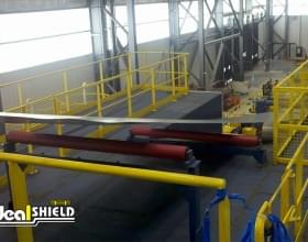 Steel Hand Rail System For Warehouse Walkway