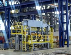 Steel Hand Rail System On Industrial Equipment