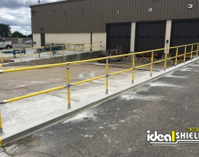 Ideal Shield's yellow Steel Pipe and Plastic handrail