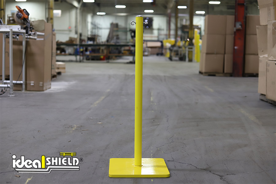 Ideal Shield's Warning Line System stanchions
