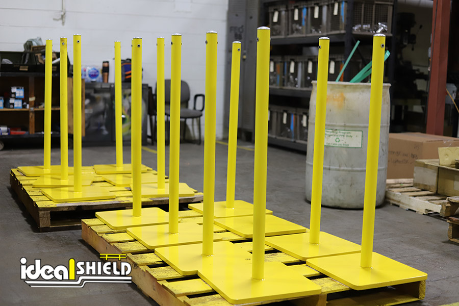 Ideal Shield's Warning Line Systems on pallets
