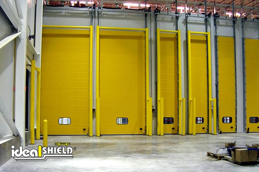 Ideal Shield's custom made Goal Posts for dock door protection