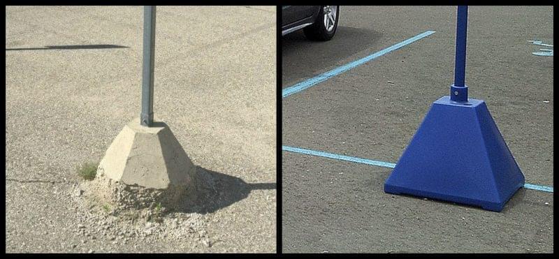 pyramid-sign-base-vs-crumbling-concrete-base