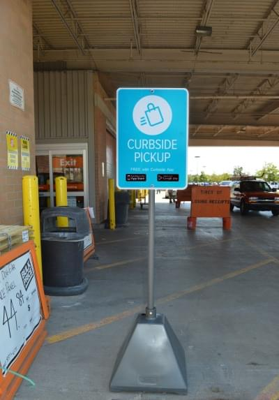 Pickup And Go How Sign Bases Greatly Help Curbside Pickup Services