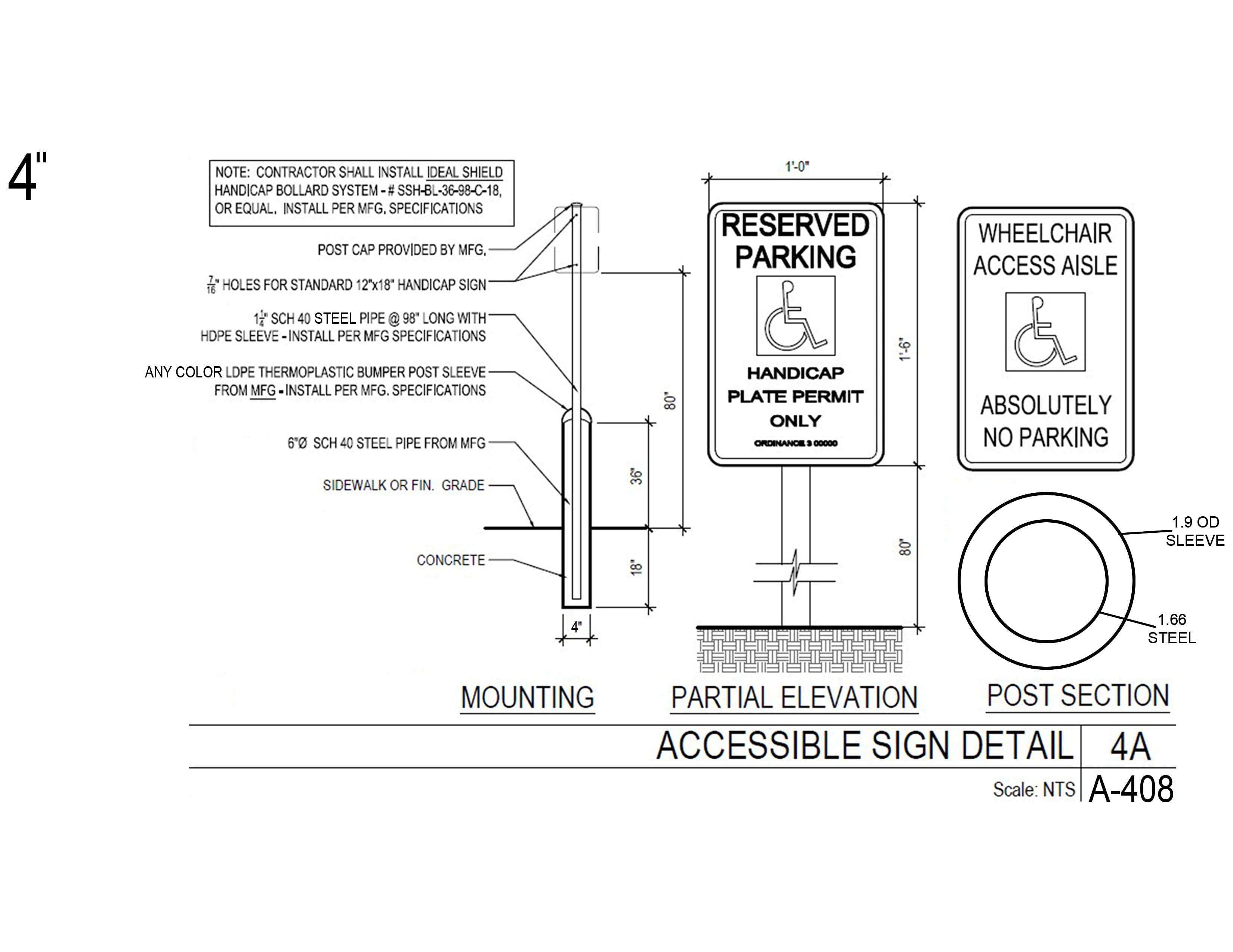 Bollard Sign System Maintenance Free Ideal Shield