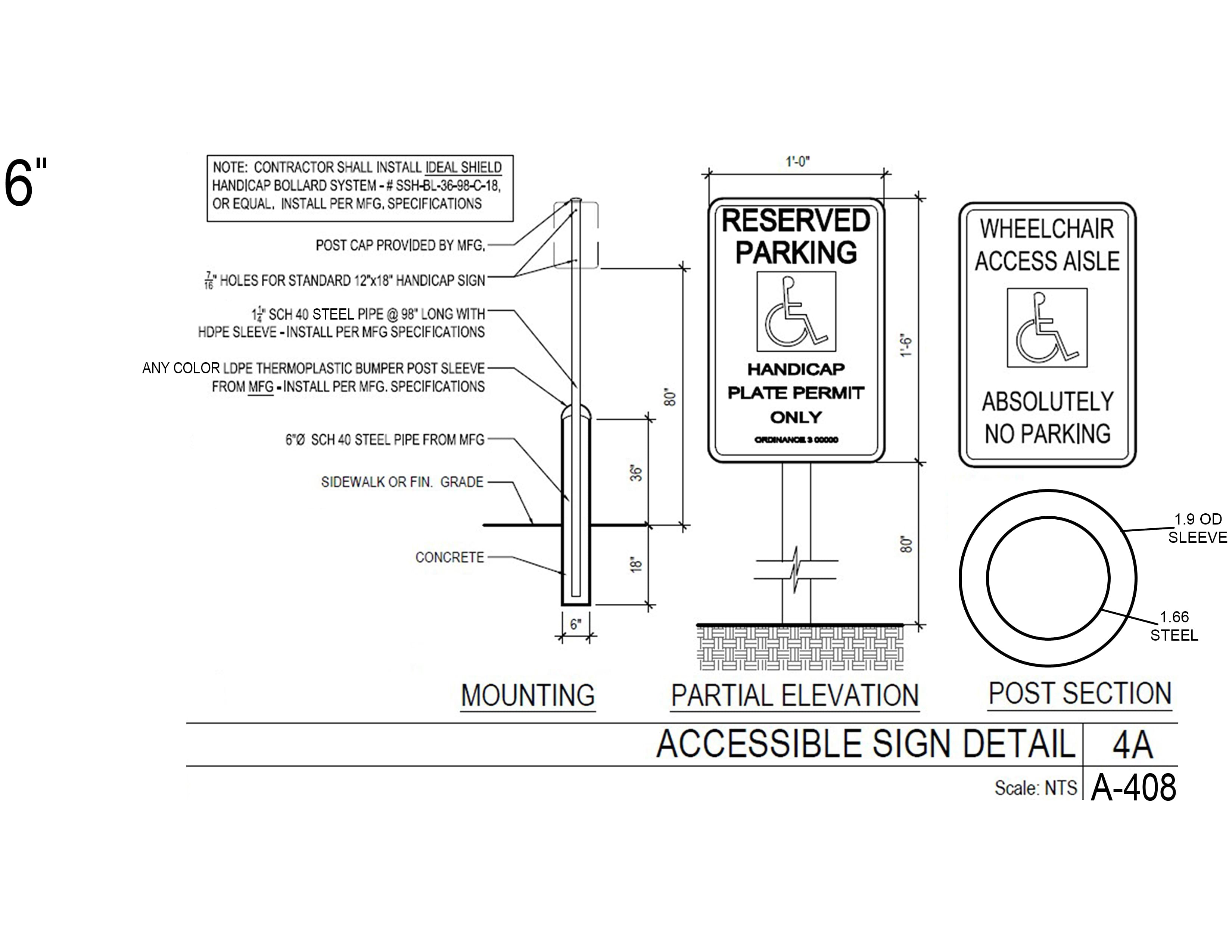 Bollard Sign System Maintenance Free Ideal Shield