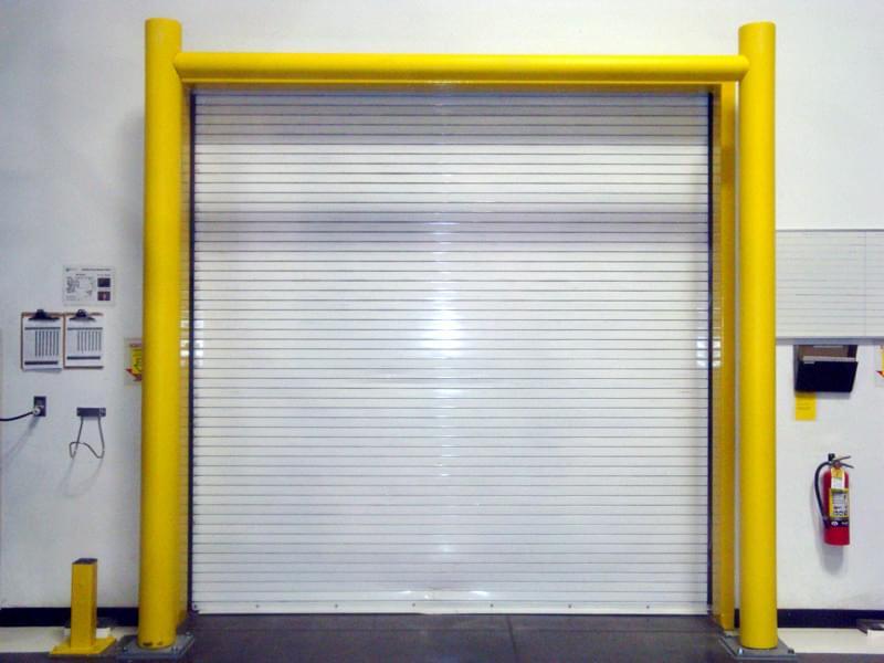 Ideal Shield's dock door and garage door protective goal posts.