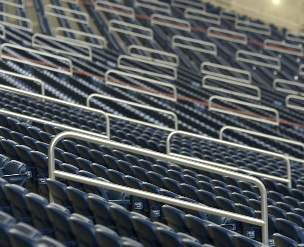 Ideal Shield aluminum handrail at Ford Field in Detroit, MI.