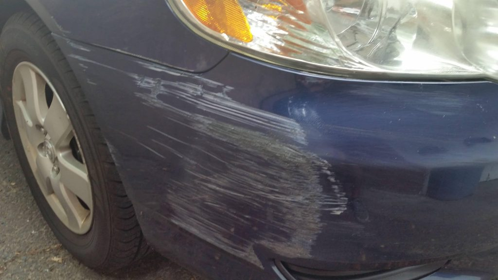 I Scratched My Car In The Parking Lot Wall