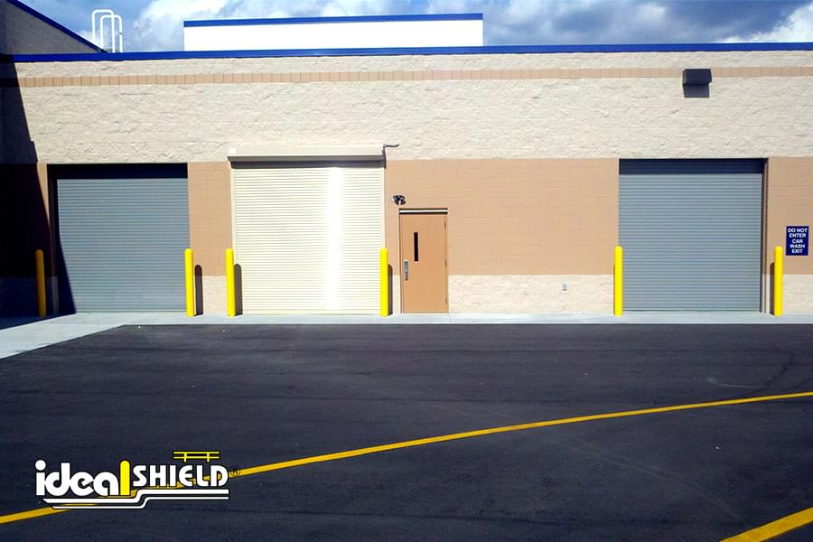 Ideal Shield's yellow dome top bollard covers