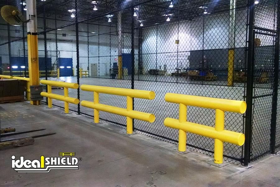Newly installed Ideal Shield heavy-duty guardrail