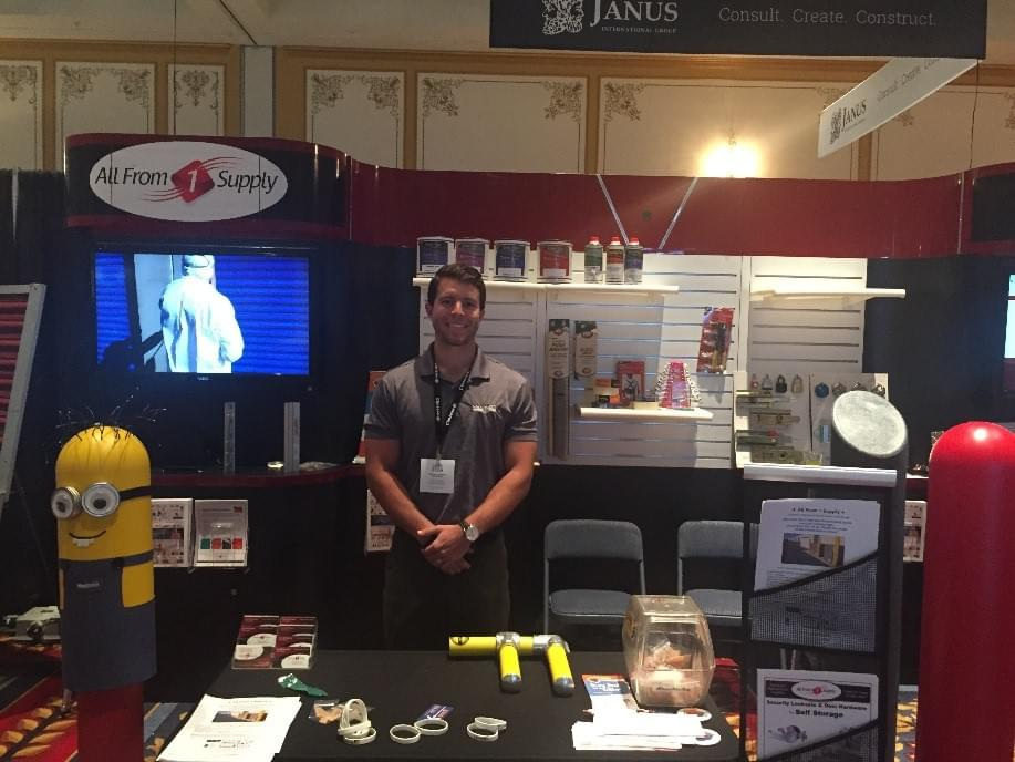 Ideal Shield's Curtis Rose at the 2017 Inside Self-Storage Trade Show in Las Vegas, NV.