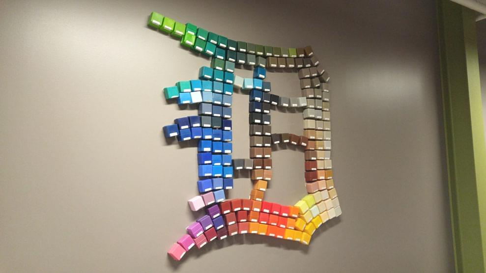 Ideal Shield's Rainbow English D in paint color samples