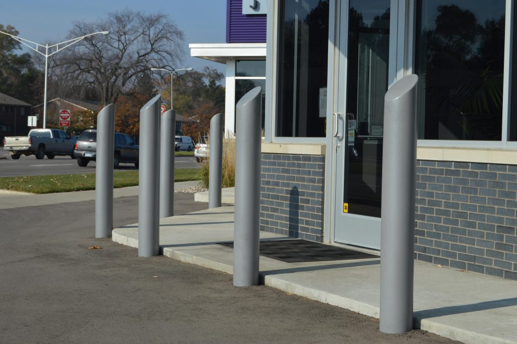 Ideal Shield's grey Skyline Decorative Bollard Covers