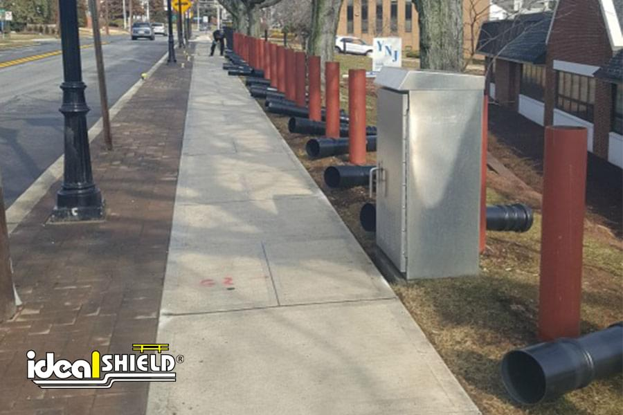 Ideal Shield's steel pipe bollard posts