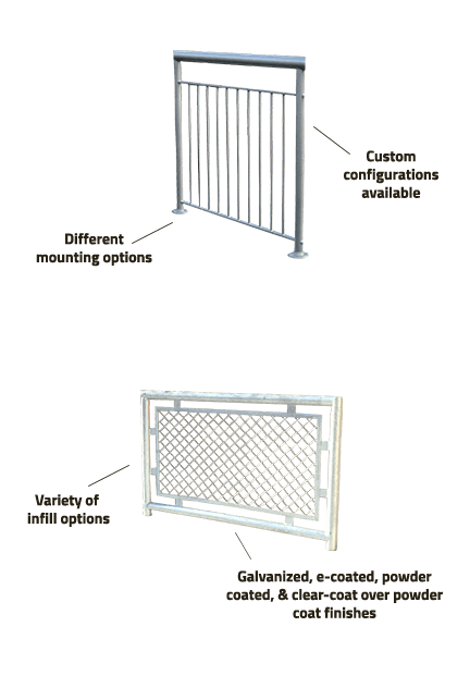 steel handrail specifications