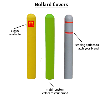 Branded Bollard Covers