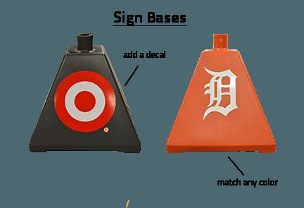 Branded Sign Bases