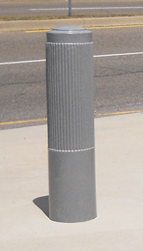 "10"" Ribbed Decorative Bollard Cover"