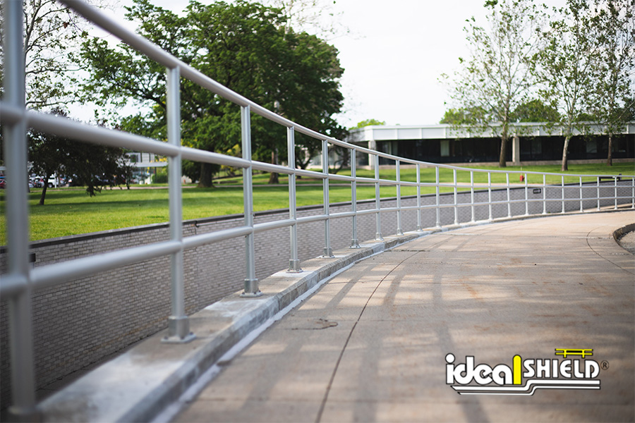 Ideal Shield's Aluminum Handrail at Ford Motor Company's Cooperate Headquarters