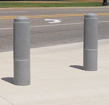 "Ideal Shield's 10"" Ribbed Decorative Bollard Cover"