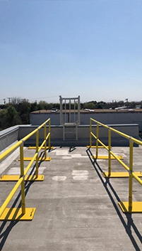 Roof Fall Protection Railing