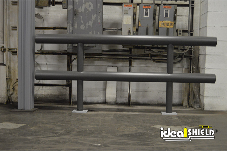 Ideal Shield's Gray Standard warehouse Guardrail