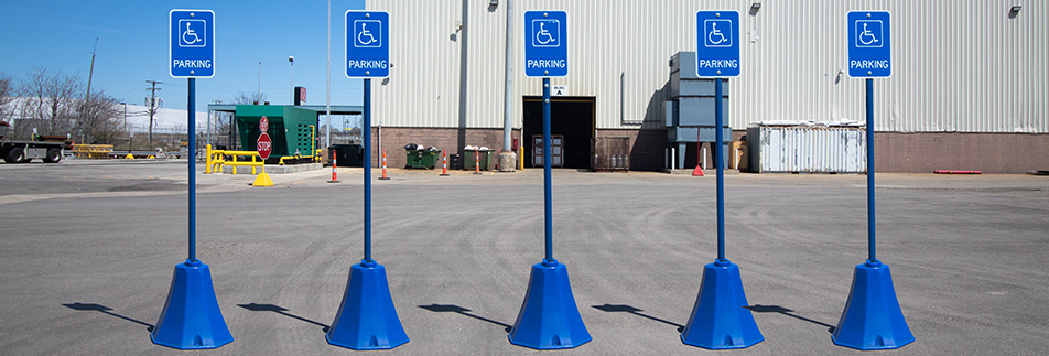 Ideal Shield Portable Octagon Sign Bases