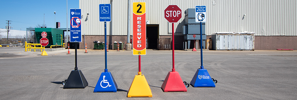 Ideal Shield Portable Pyramid Sign Bases