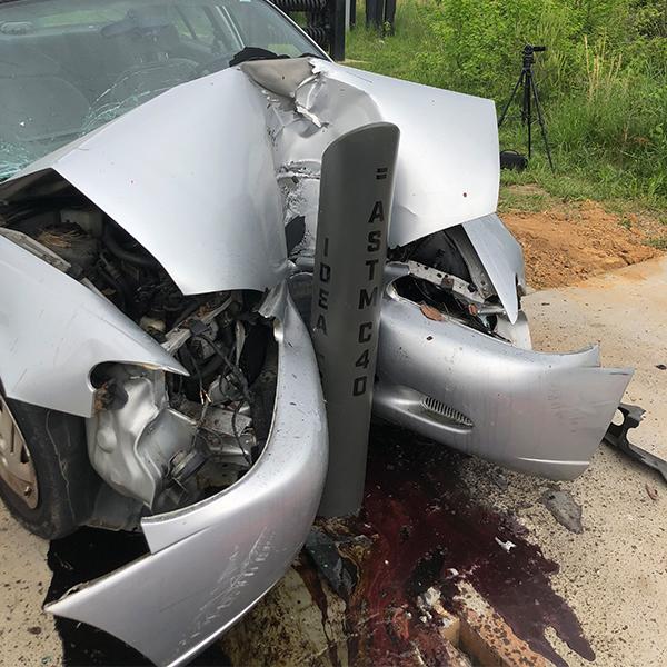 Ideal Shield's ASTM C40 Traffic Impact Bollard crash test