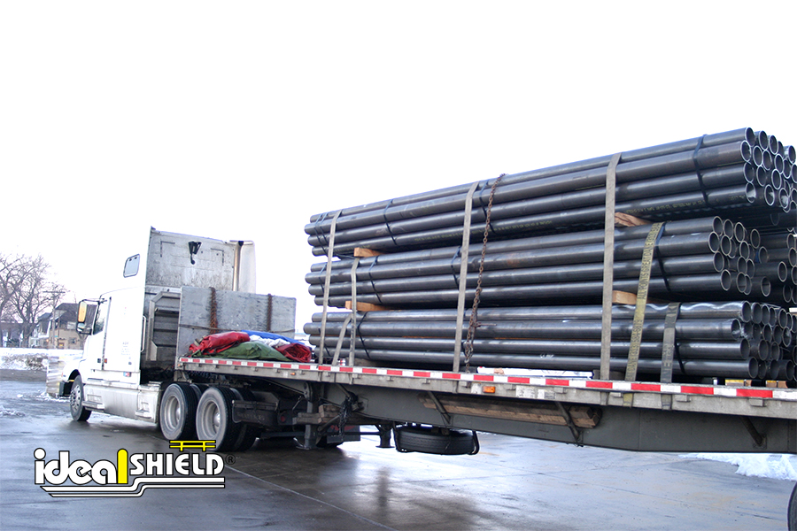 Ideal Shield's steel pipe delivery