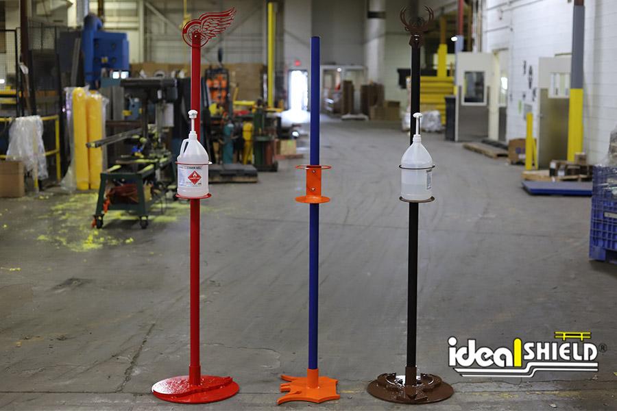 Ideal Shield's Custom Designed Sanitizer Station Stands