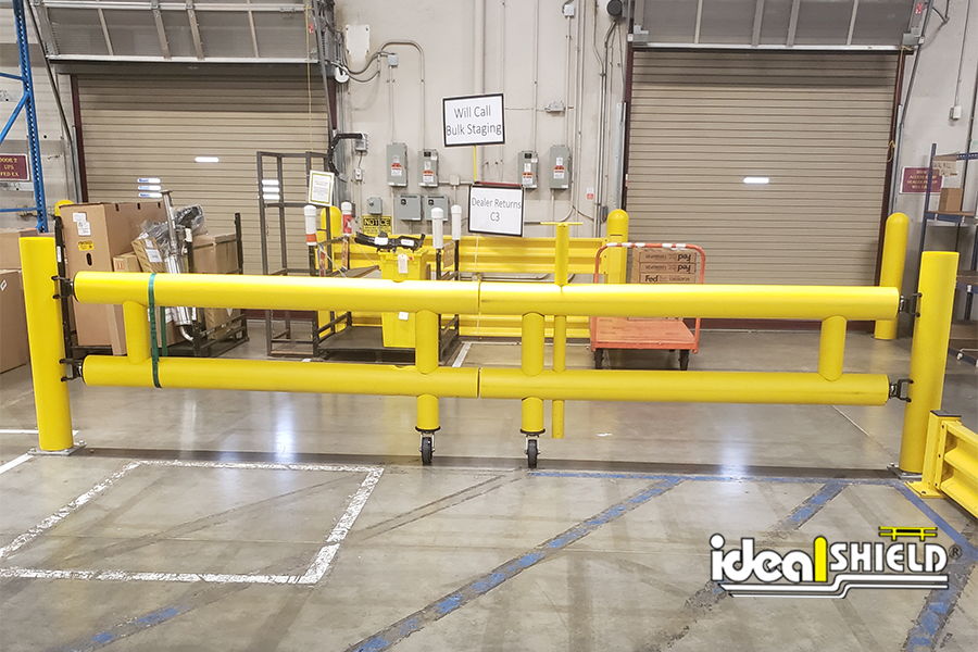 Ideal Shield's Guardrail Double Swing Gates
