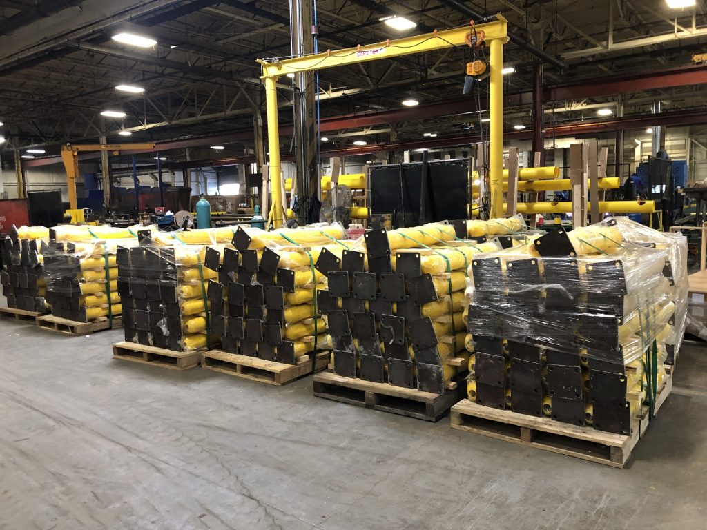 Ideal Shield's large shipment of base plate bollards