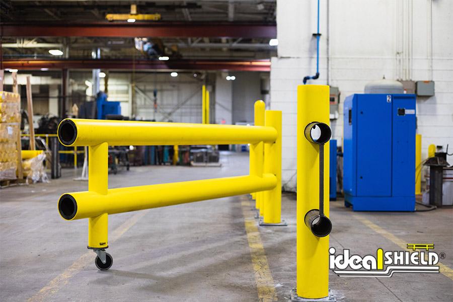 Ideal Shield's HD Guardrail Swing Gate with the Side Slide locking mechanism