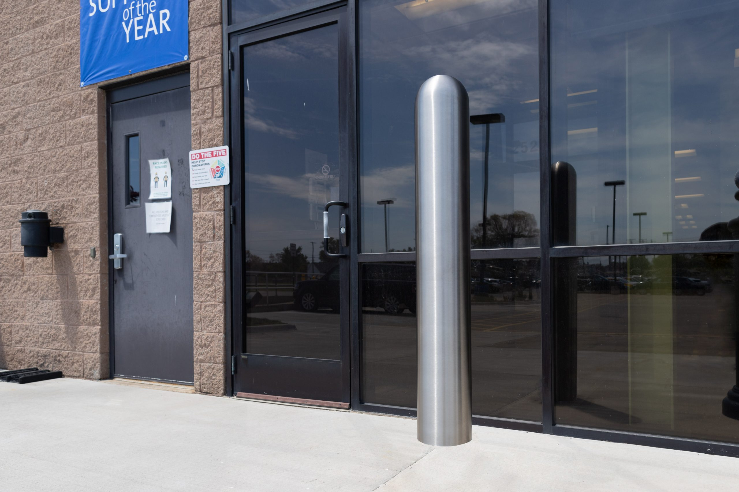 Ideal Shield's Stainless Steel Bollard Cover